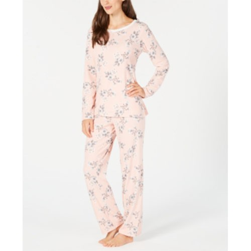 Charter Club Thermal Fleece Pajama Set L