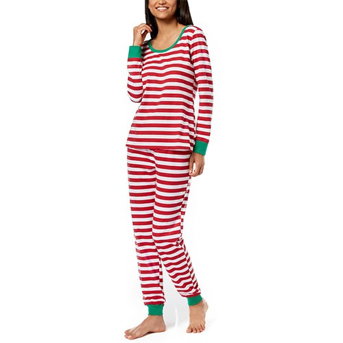 Family Pajamas Stripe Pajama Set M