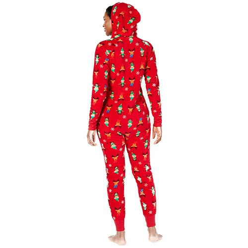 Family Pajamas Matching Elf Hooded One-Piece XS