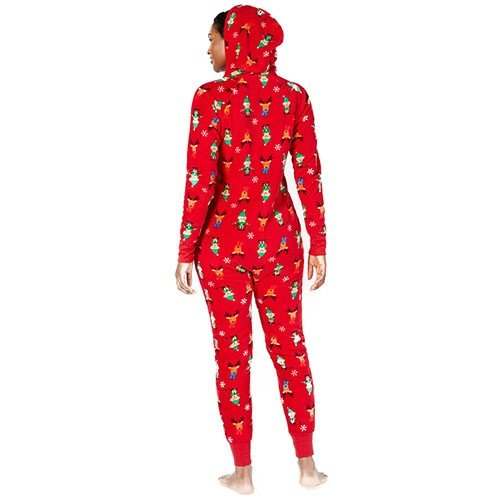 Family Pajamas Matching Elf Hooded One-Piece L