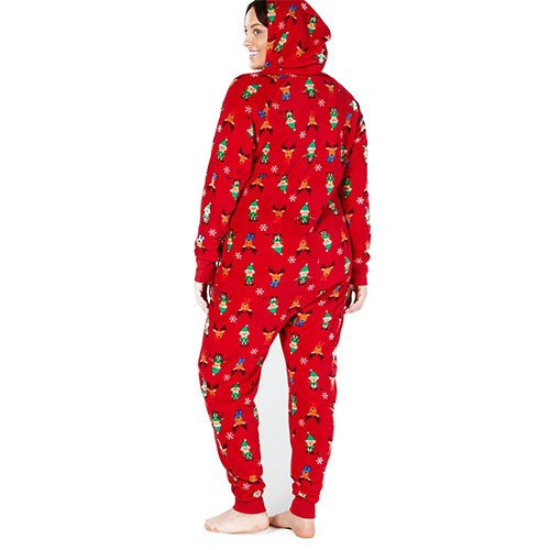 Family Pajamas Matching Elf Hooded One-Piece XXL