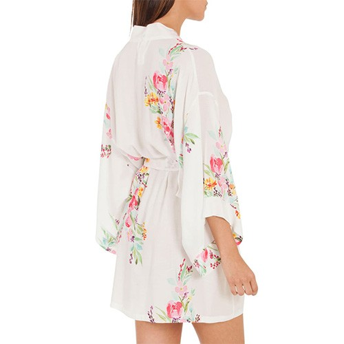 In Bloom Floral Wrap Robe XS