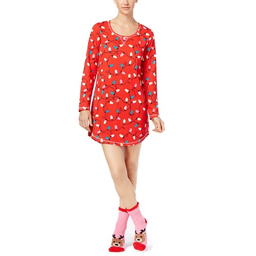 Jenni Graphic Sleepshirt and Socks Set M