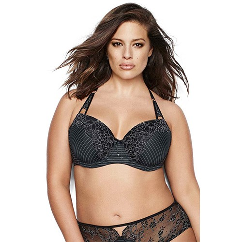 Ashley Graham Convertible Lace Bra 36DDD