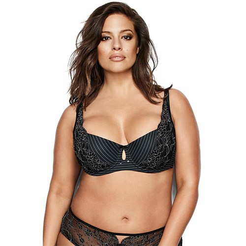 Ashley Graham Diva Lightly Balconnet Bra 36DDD