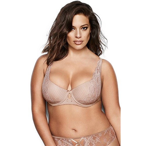 Ashley Graham Diva Lightly Balconnet Bra 38C