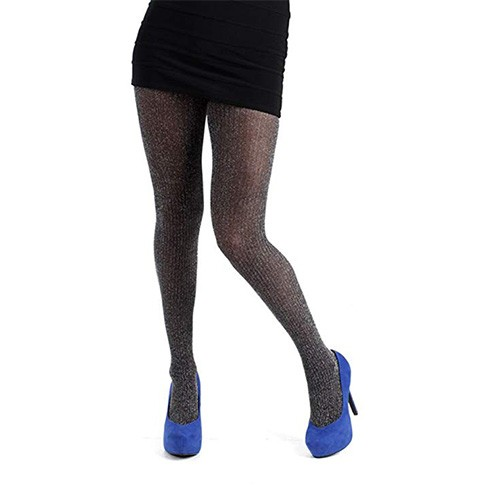 Hue Lurex Rib Tights with Control Top S/M