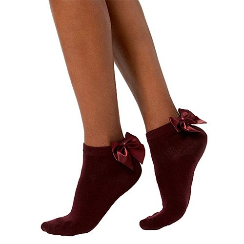 INC Bow No-Show Socks M