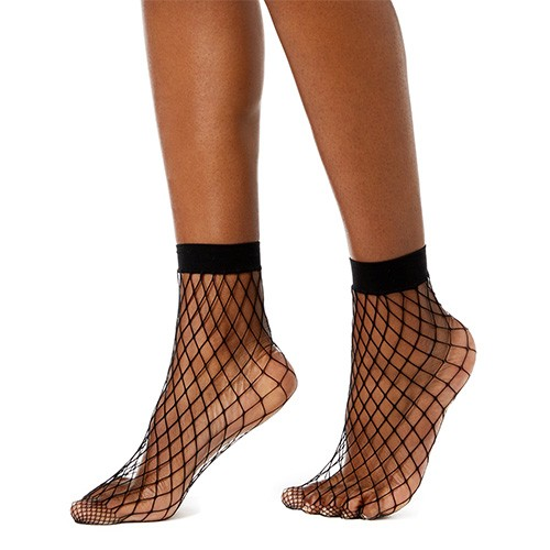 INC Fishnet Ankle Socks M