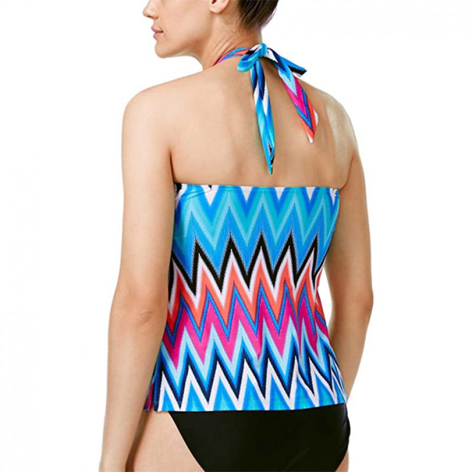 Island Escape Bandini Chevron Swim Top 6