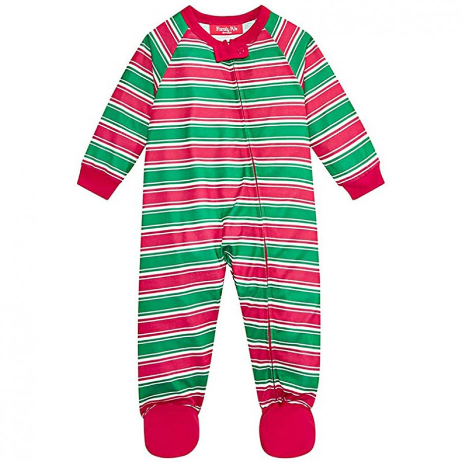 Family PJs One Piece Footed Holiday Pajamas
