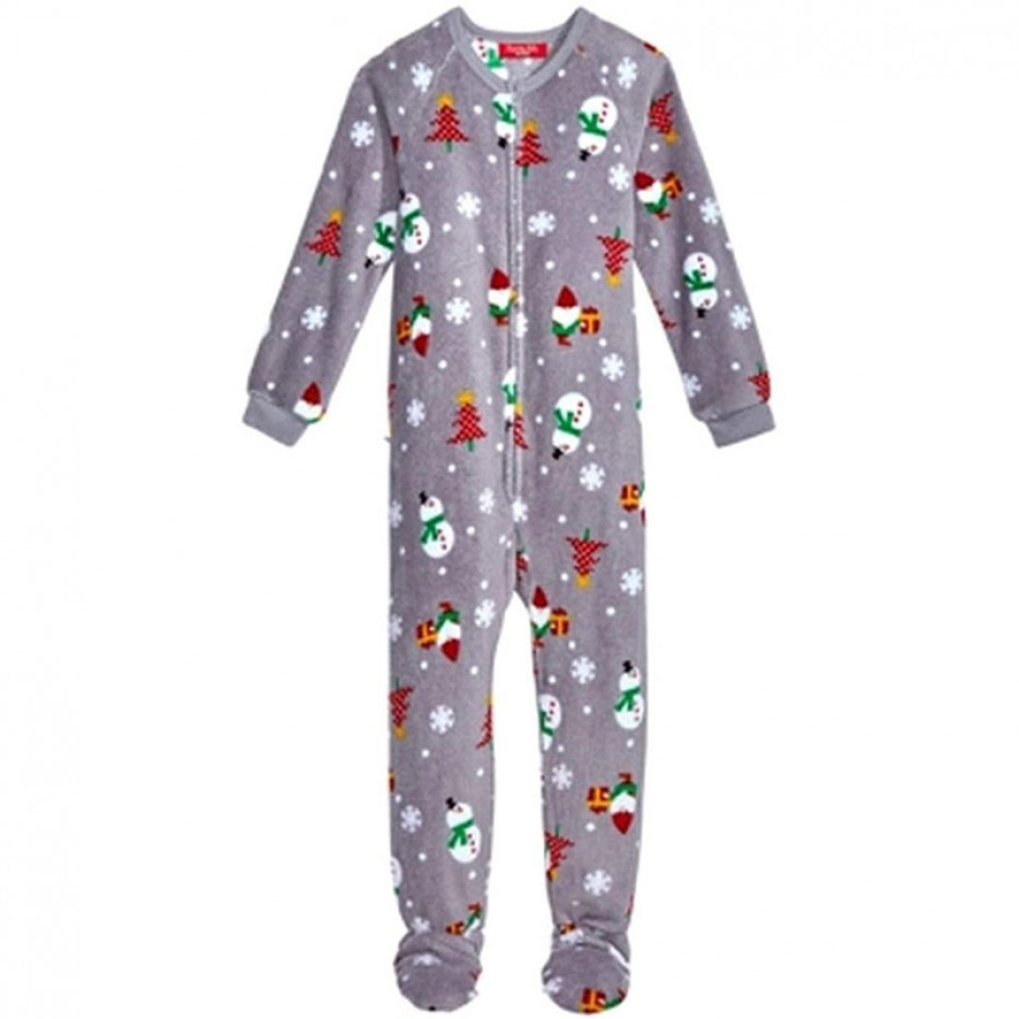 Family PJ Unisex Kids' 1-Pc Footed Pajama