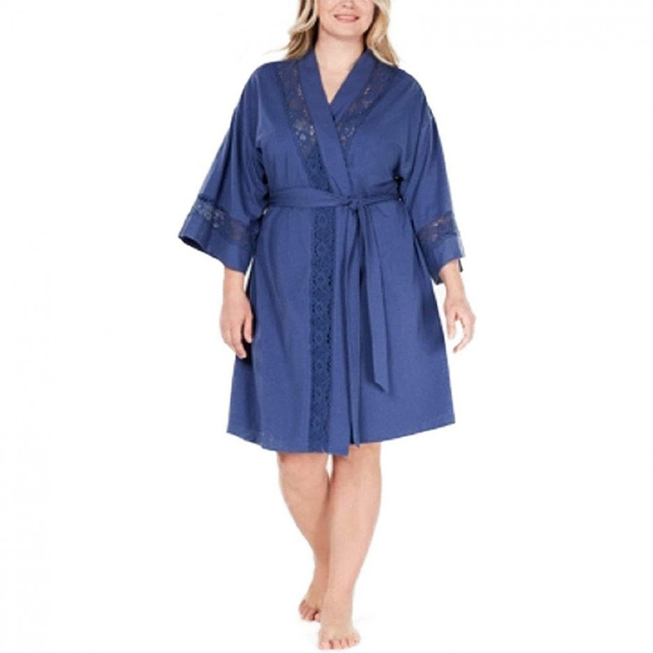 Charter Club Lace Knit Cotton Robe 3X