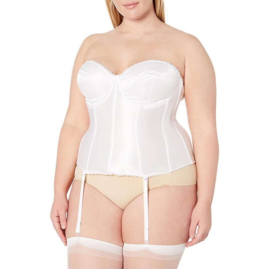 Va Bien Smooth Satin Hourglass Bustier 34B