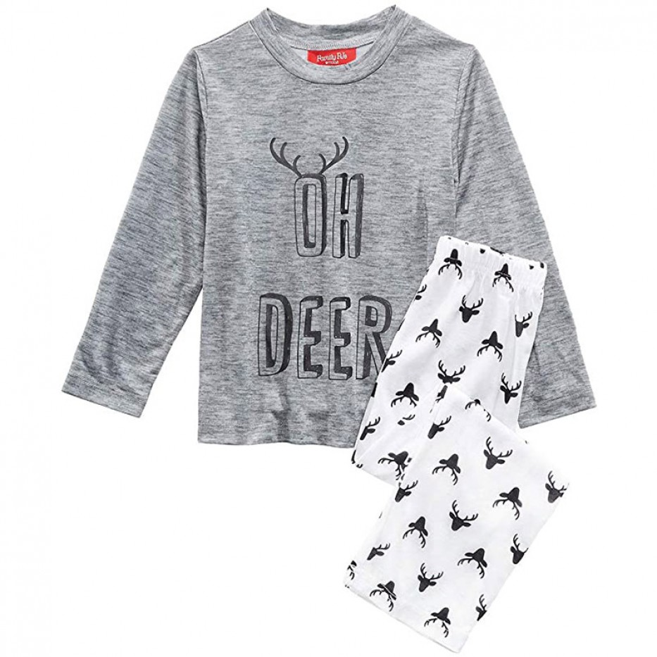 Family PJs Kids Print 2-Piece Pajama Set 4