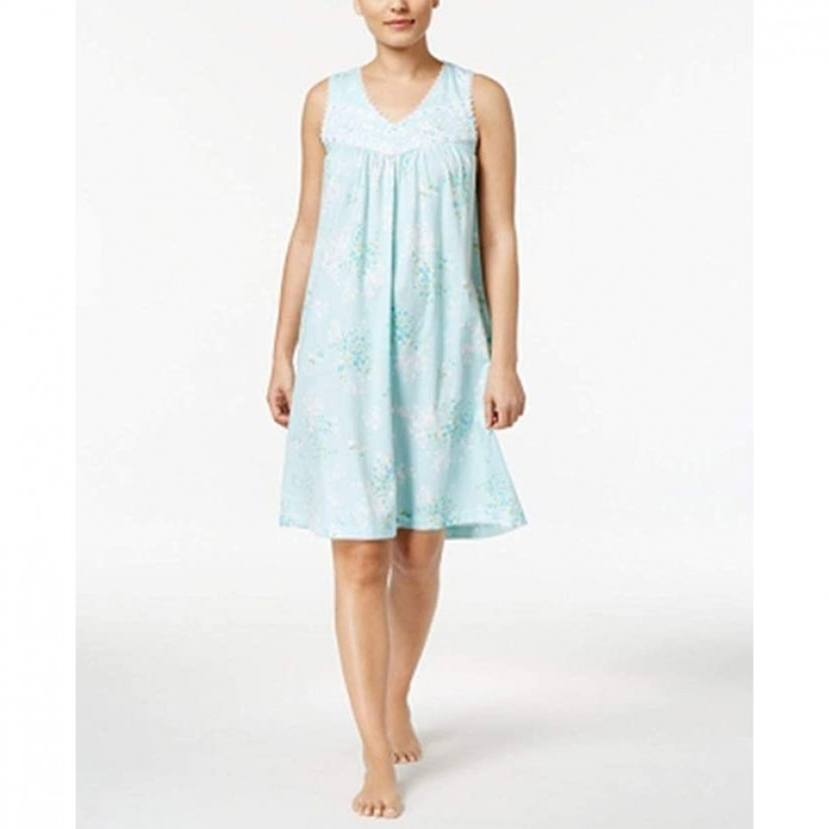 Charter Club Floral-Print Nightgown XS