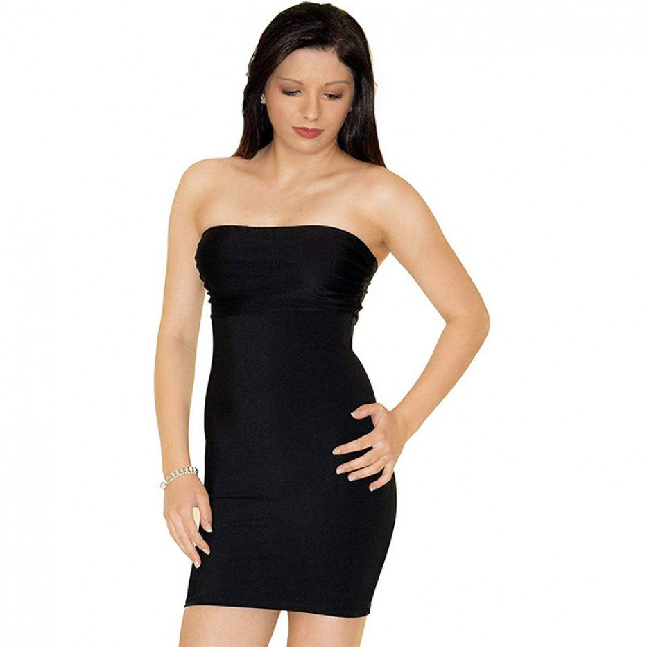 InstantFigure Strapless Bandeau Slimming Dress M