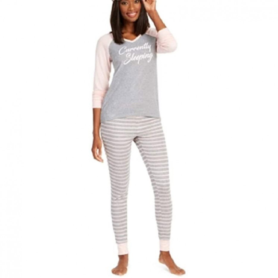 Jenni Knit Jogger Pant Pajamas 2Pc Set L