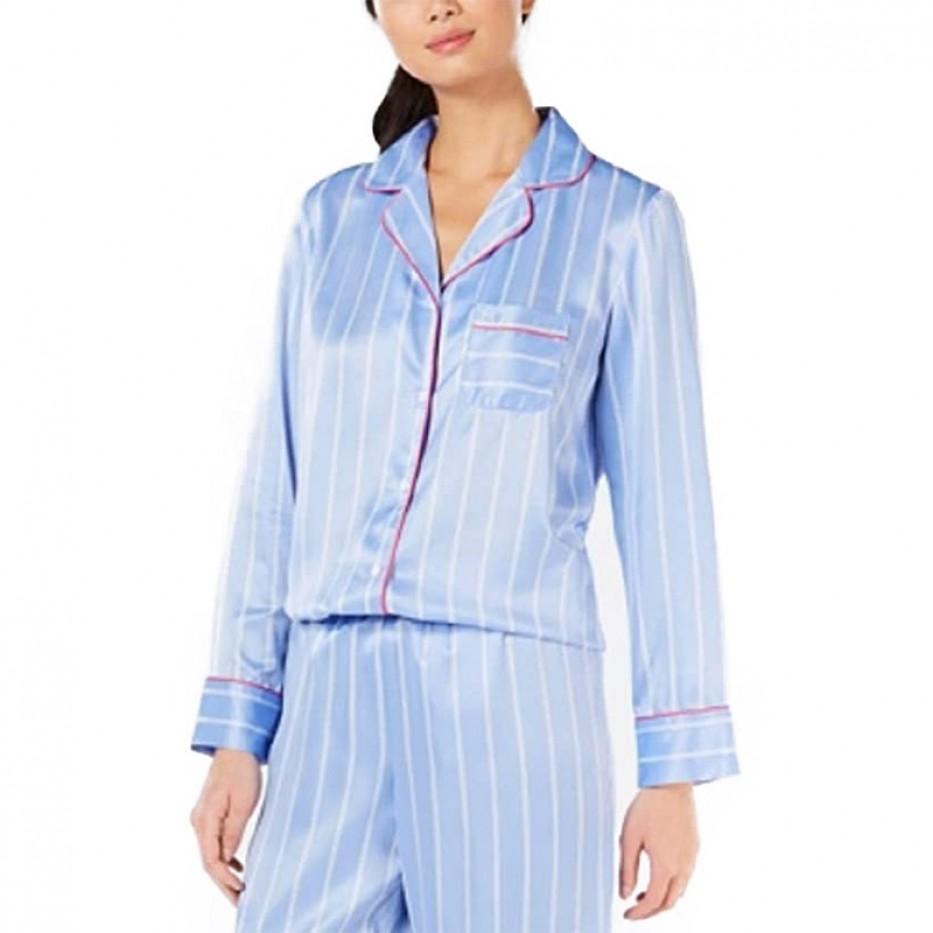 Charter Club Notch-Collar Satin Pajama Top XXXL