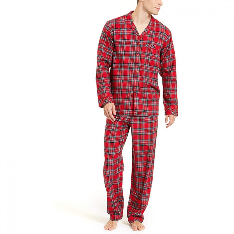 Family Pajamas Men's Flannel Pajama Set XL