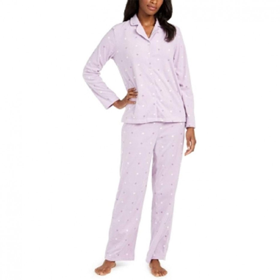 Charter Club Cozy Fleece Pajama Set M