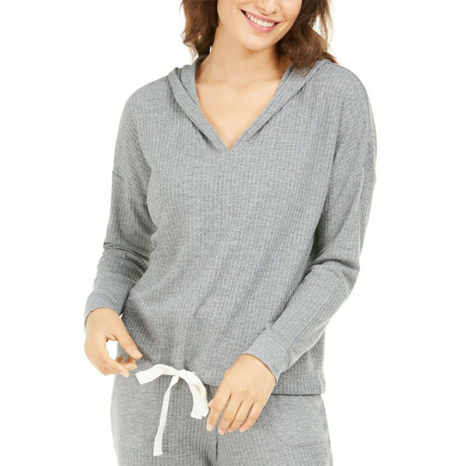 Alfani Thermal V-neck Lounge/Pajama Hoodie M