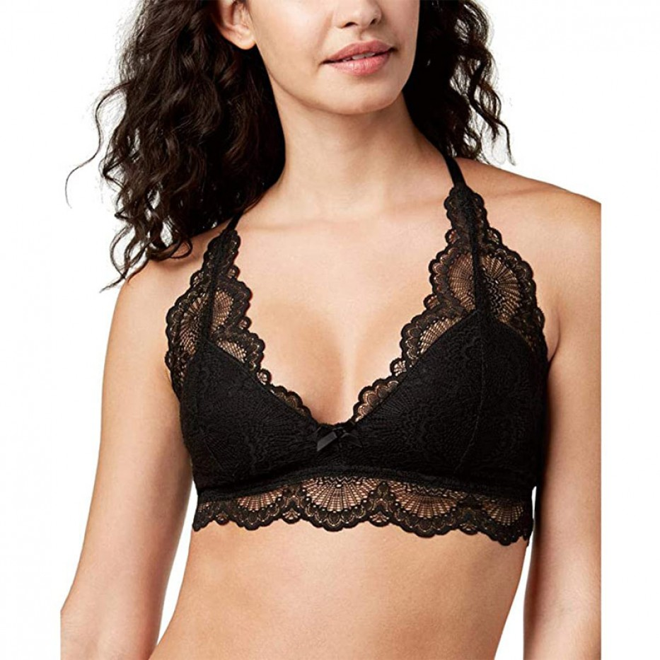 Jennifer Moore Split-Back Lace Bralette L