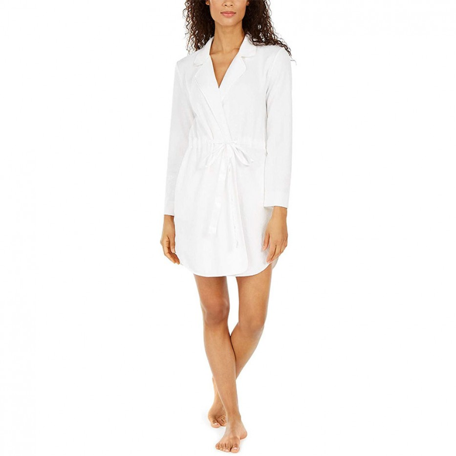 Charter Club Notch Collar Short Wrap Robe L