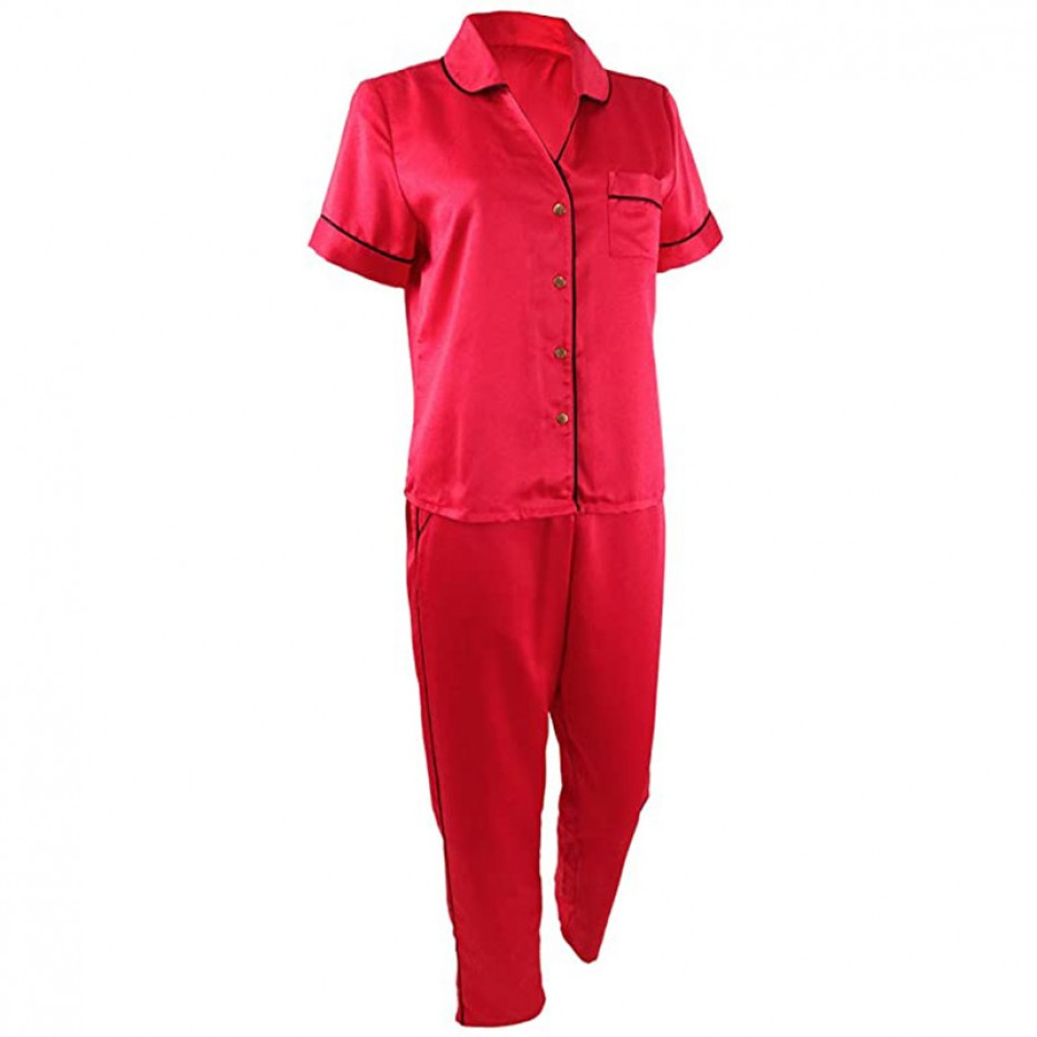 INC Women's Piping-Trim Pajama Set XL