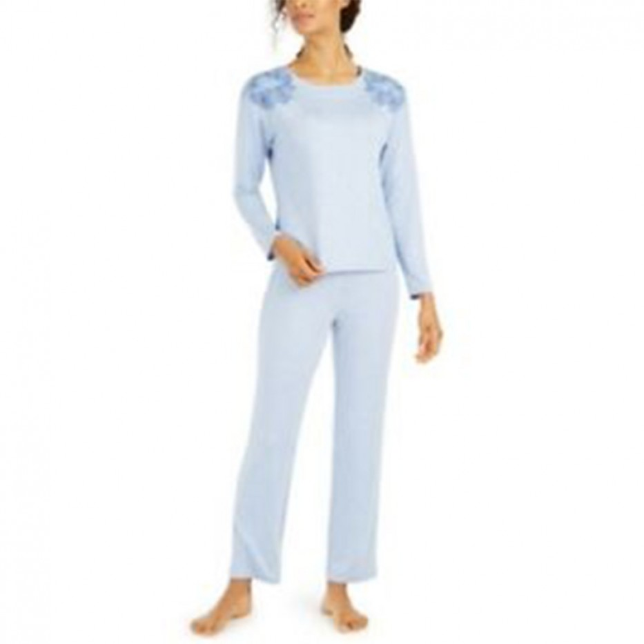 Charter Club Floral Embroidered Lounge Pajama Set S