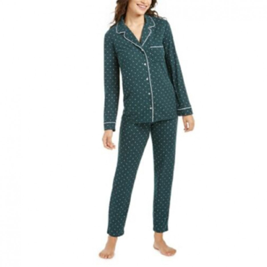 Alfani Super Soft Printed Pajama Set XXL