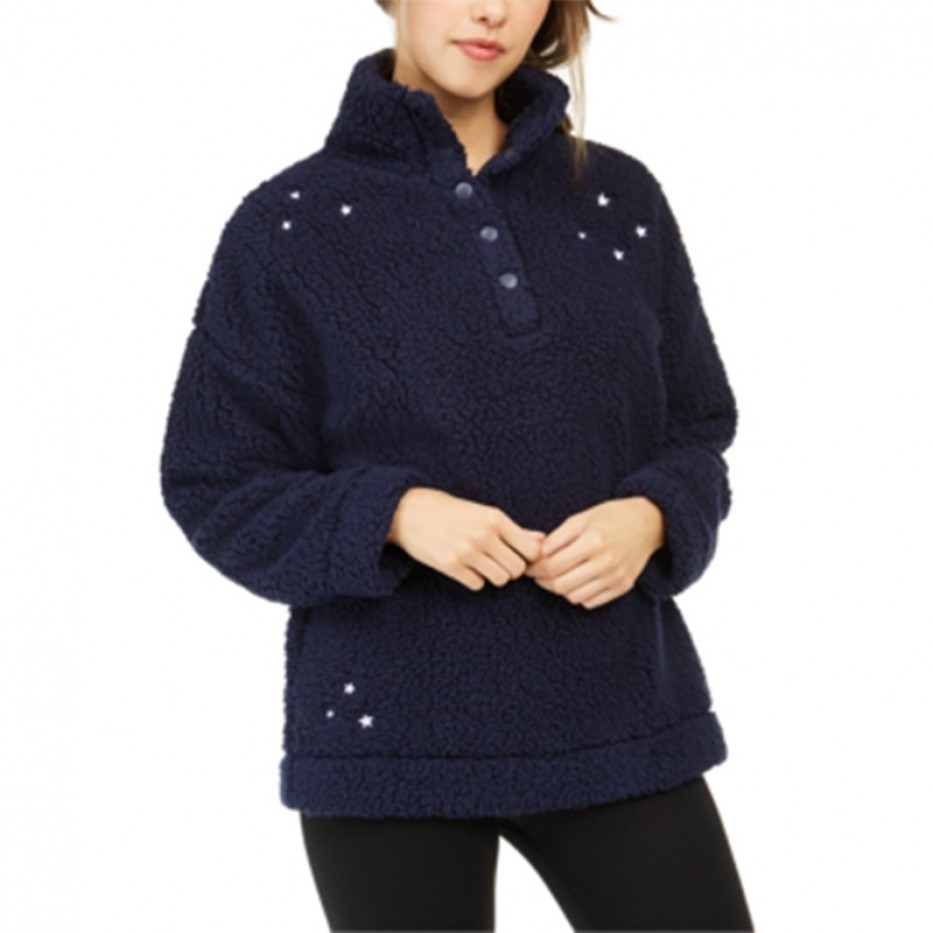 Jenni Faux Sherpa Sleep Lounge Sweater S