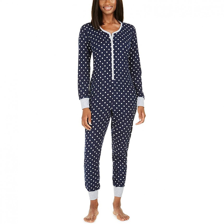 Jenni Printed Thermal One Piece Pajama XS