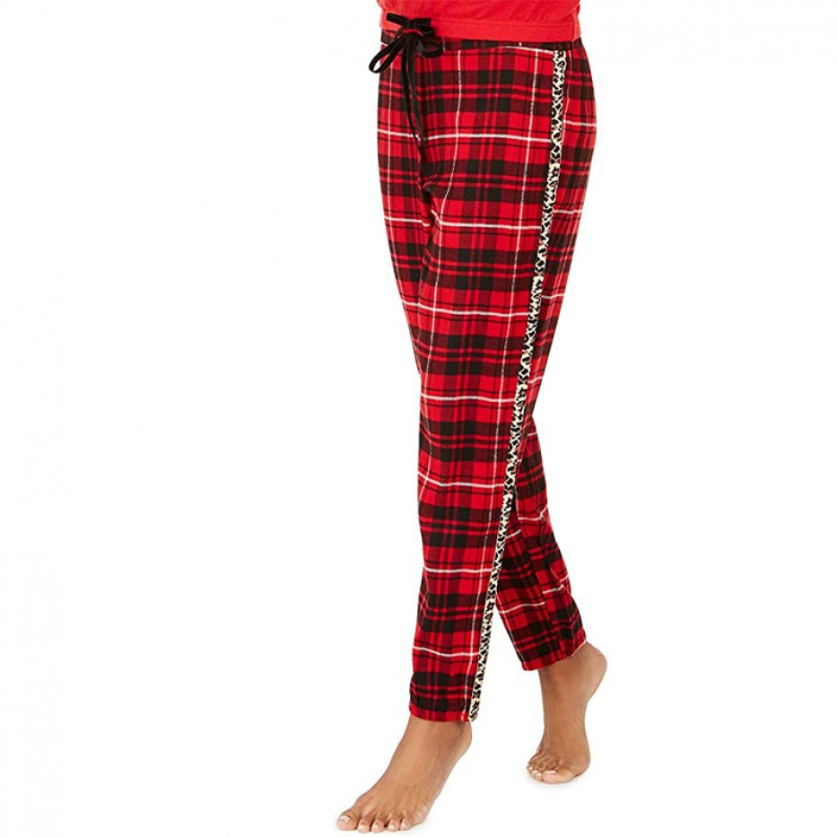 Jenni Lurex & Plaid Pajamas Pants M
