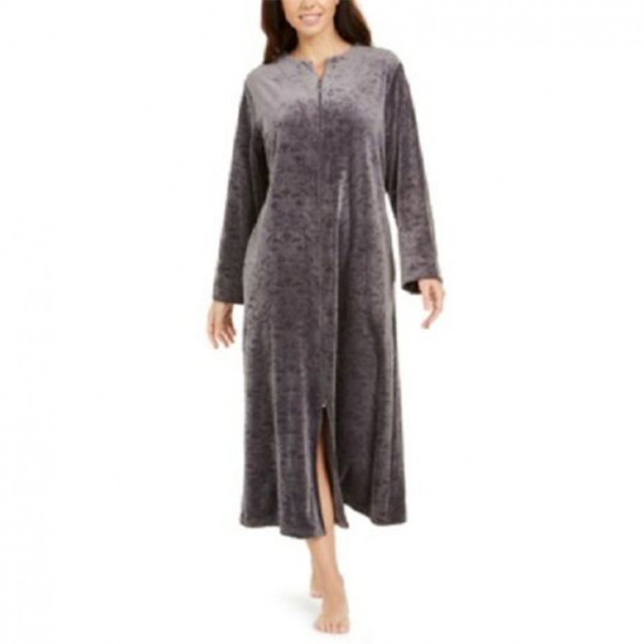 Miss Elaine Brocade Micro Fleece Robe S