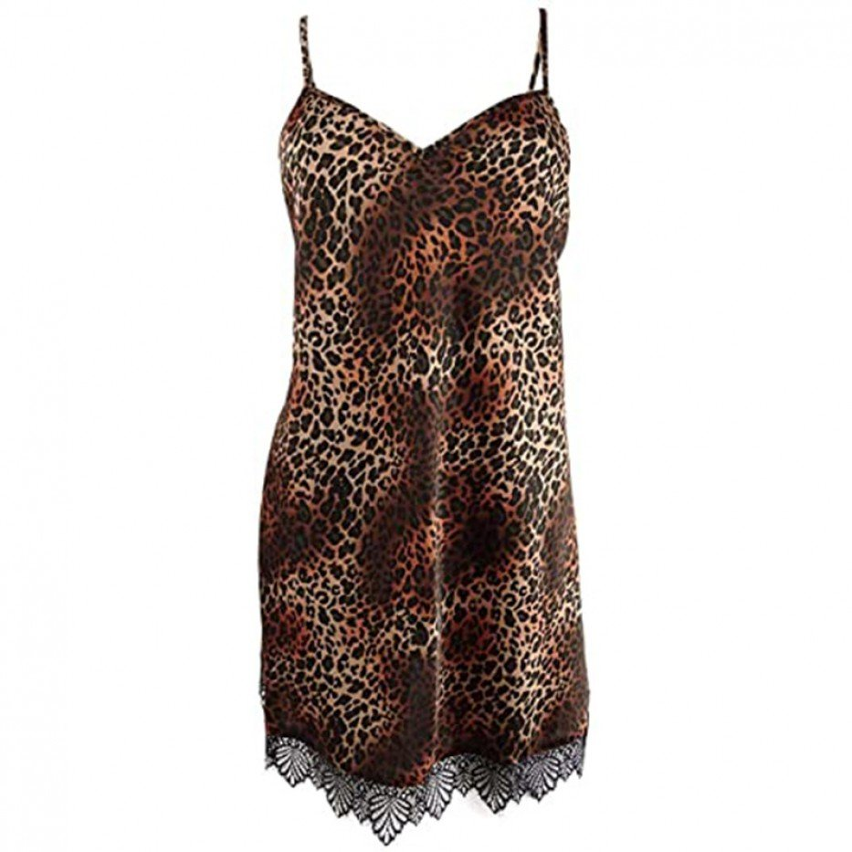 INC Lace-Trim Chemise Nightgown XS