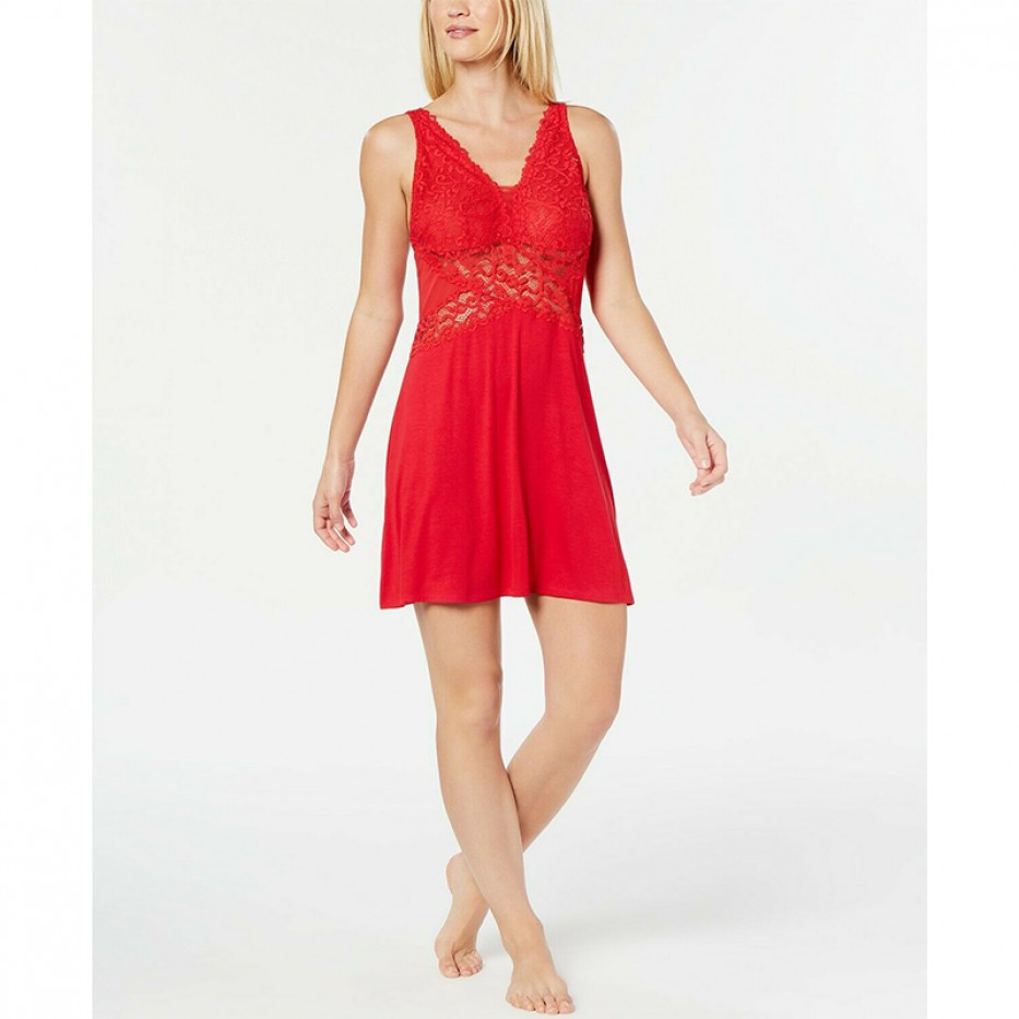 INC Ultra Soft Lace Detail Knit Chemise Nightgown XL